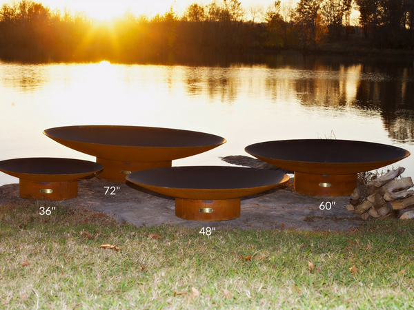 "799559220785 Fire Pit Art - Asia 48"" Outdoor Wood Burning Steel Fire Pit"