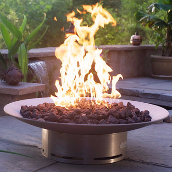 Bella Vita46-FPA-MLS120-LP-AWEIS Bella Vita Natural Gas Propane LP Fire Pit Art Stainless Steel 46""