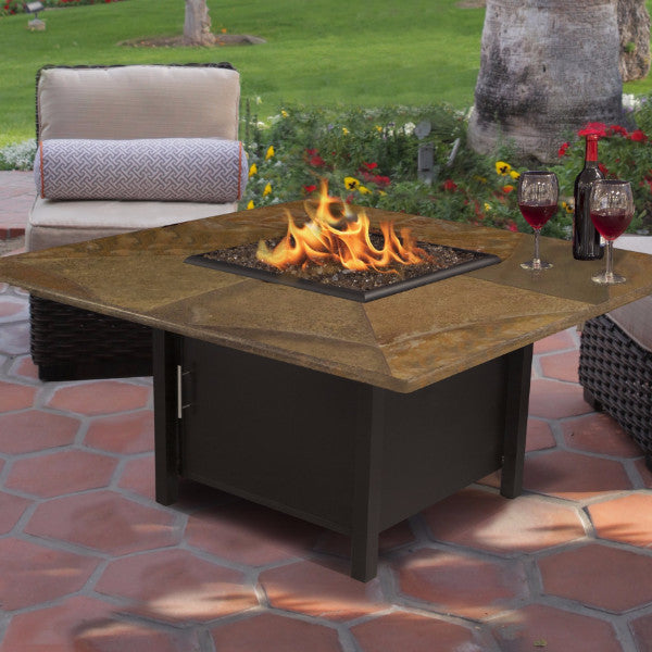 Gas Fire Pit - Carmel Square Fire Pit Coffee Table - By California Outdoor Concepts
