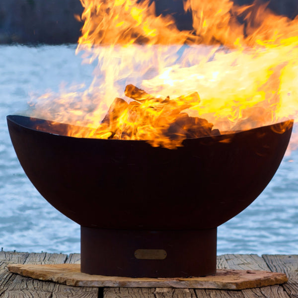 Scallop Wood Burning Fire Pit Bowl
