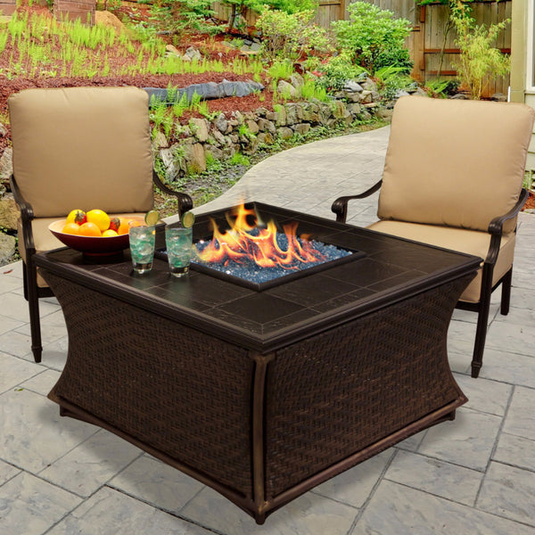 Gas Fire Pit - Mendocino Chat Height Fire Pit Coffee Table