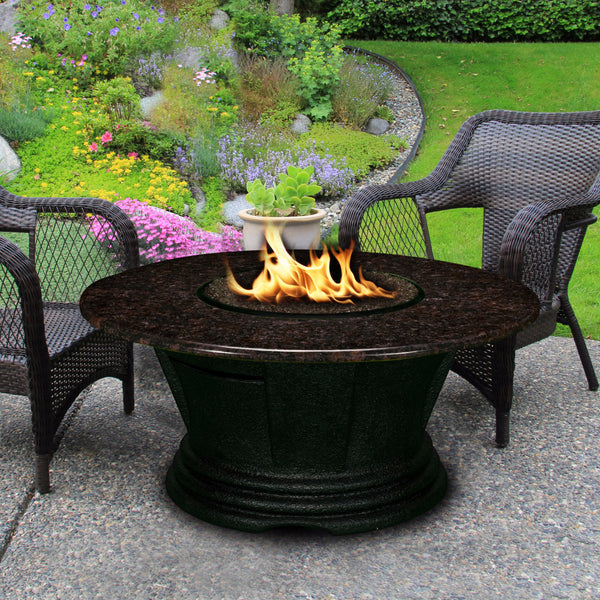 7010-BK-PG-BM-48 Sunset Gold San Simeon Fire Pit Coffee Table California Outdoor Concepts