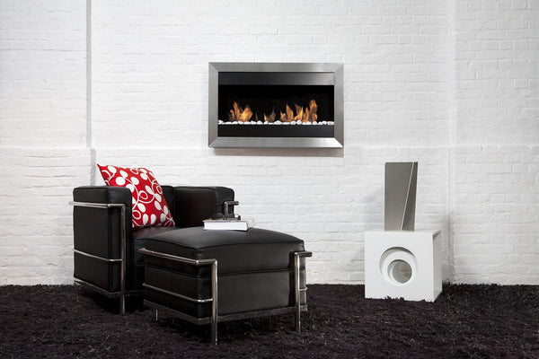 BB-SQS2 Small Square II Fireplace - Bio-Blaze Ventless Wall Mounted Ethanol 0099461538832