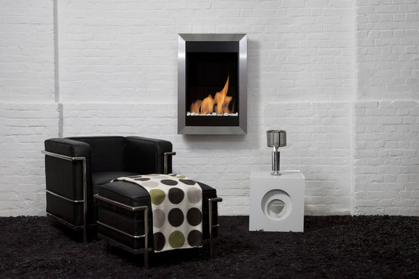 BB-SQV Square Vertical Bio-Blaze Ethanol Fireplace - Wall Mounted Ventless 099461538924