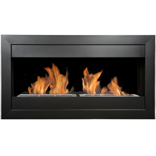 BB-SQL2B Bio-Blaze Wall Mounted Large Square Fireplace - Indoor Ventless 799975077116