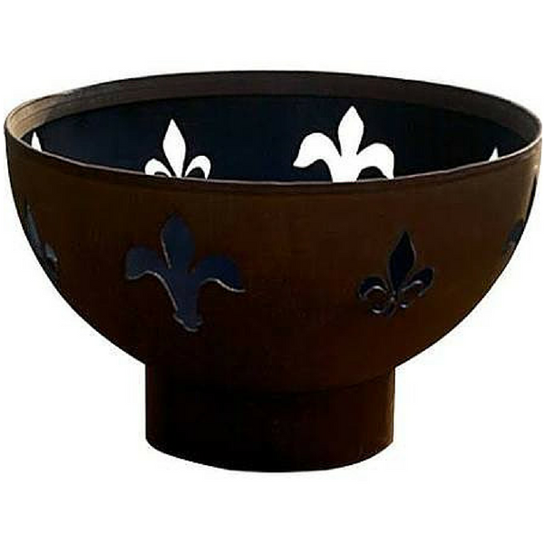 Fleur De Lis-FPA-MLS120-NG Gas Fire Pit - Fleur De Lis Natural Gas Or Propane By Fire Pit Art