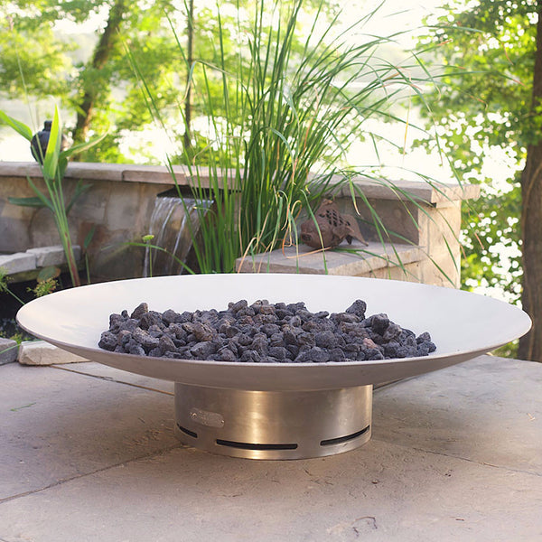 "Bella Vita58-FPA-MLS180-LP-AWEIS Bella Vita 58"" Stainless Steel Fire Pit Large Fire Pit ARt"