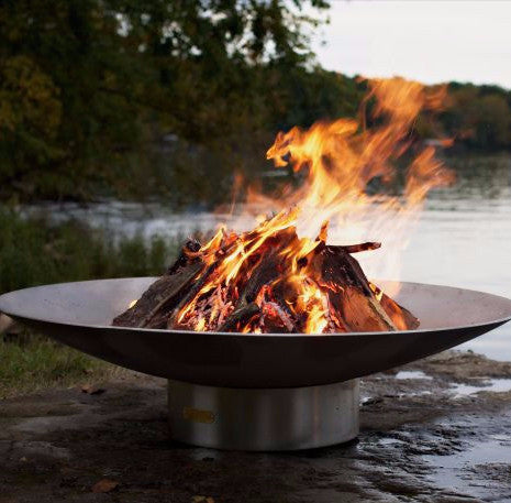 BV46 Bella Vita 46 Stainless Steel Low Fire Pit by Fire Pit Art