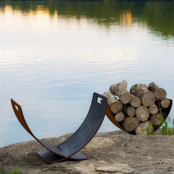 Fire Pit Accessories - Wings Of Flight Log Holder