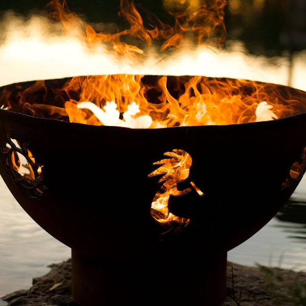 Fire Pit - Kokopelli Steel Outdoor Fire Pit By Fire Pit Art