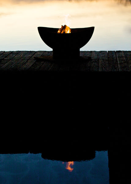 Fire Pit - Scallop Outdoor Fire Pit By Fire Pit Art