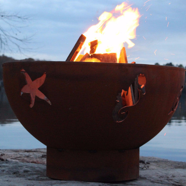 Fire Pit - Sea Creatures Outdoor Fire Pit By Fire Pit Art