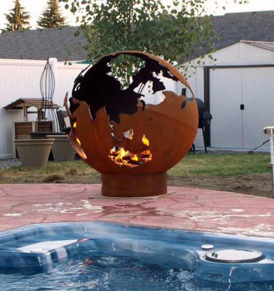 Fire Pit - Third Rock Outdoor Fire Pit By Fire Pit Art