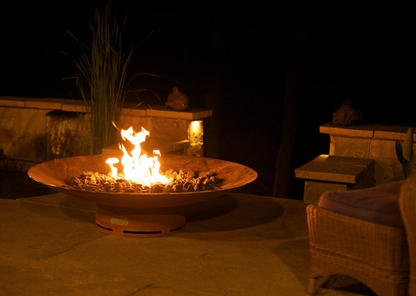 "Gas Fire Pit - Asia 48"" Natural Gas Or Propane Fire Pit By Fire Pit Art"