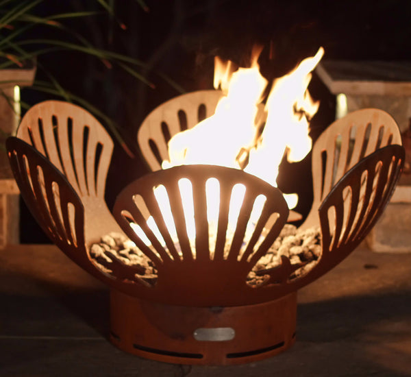 Gas Fire Pit - Barefoot Beach Natural Gas Or Propane Fire Pit By Fire Pit Art