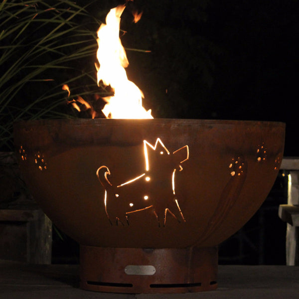 Gas Fire Pit - Funky Dog Natural Gas Or Propane Fire Pit By Fire Pit Art