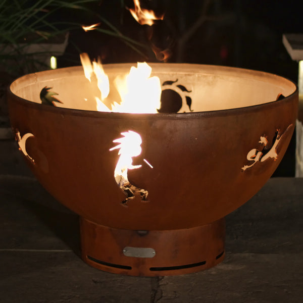 Gas Fire Pit - Kokopelli Natural Gas Or Propane Fire Pit By Fire Pit Art