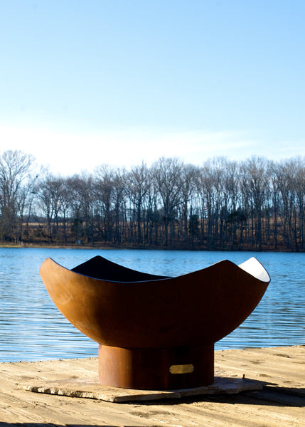 Gas Fire Pit - Manta Ray Natural Gas Or Propane Fire Pit By Fire Pit Art