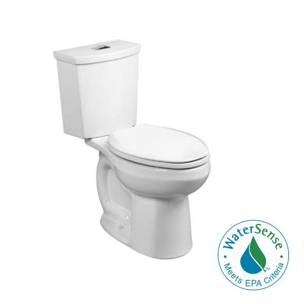 American Standard H2Option Chair Height 2-piece 0.92/1.28 GPF Dual Flush Elongated Toilet with Liner in White