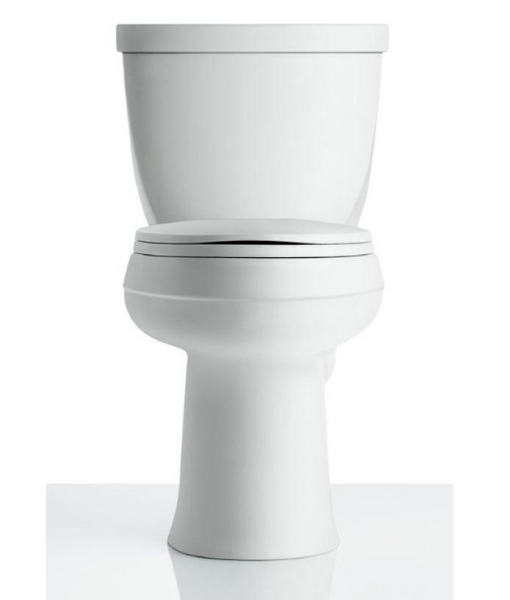KOHLER Cimarron Complete Solution 2-piece 1.28 GPF Single Flush Round Toilet in White image 25737529550