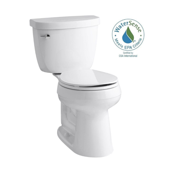 KOHLER Cimarron Complete Solution 2-piece 1.28 GPF Single Flush Round Toilet in White image 3935642583155