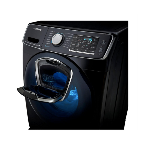 SAMSUNG 5.0 CU. FT. BLACK STAINLESS STEEL STACKABLE WITH STEAM CYCLE FRONT LOAD WASHER - ENERGY STAR - ADDWASH image 25737521486