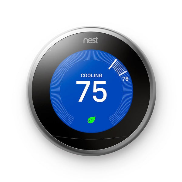 3rd gen Nest Learning Thermostat Cooling Leaf Front Image