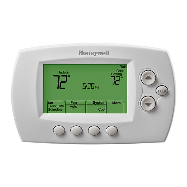 Honeywell Wi-Fi seven day programmable thermostat front view