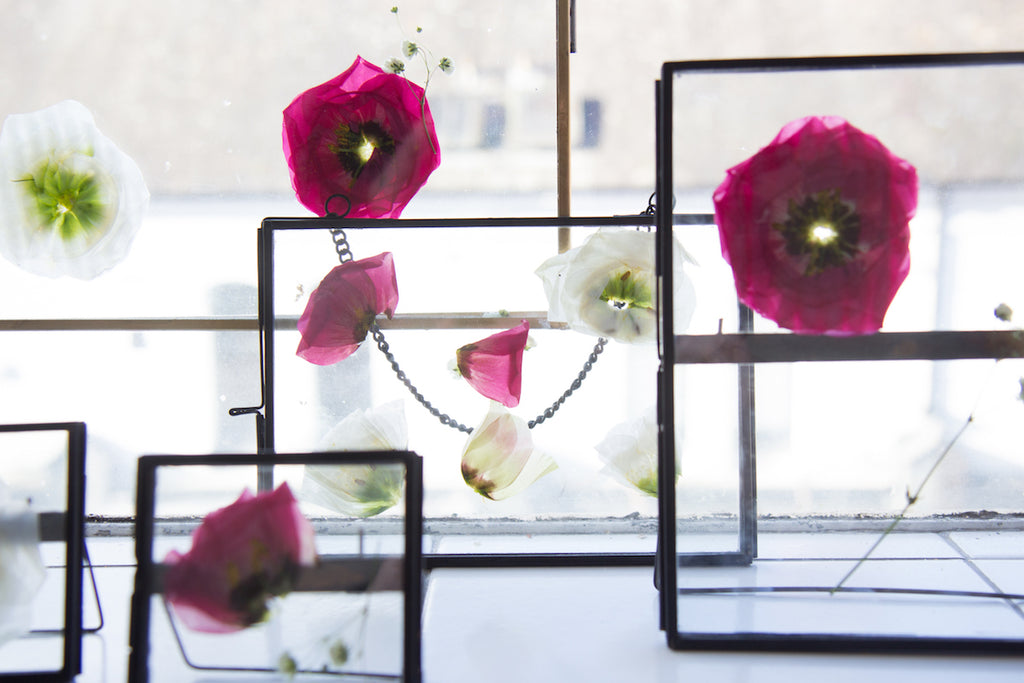 DIY Floating Flower Frames with Pressed Flowers