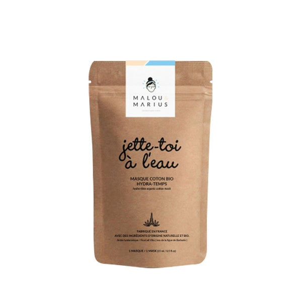 Organic Cotton Face Mask - Jette Toi à l'eau - Hydrating & Anti-aging