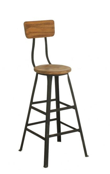 Stool - Teak & Metal - AVAILABLE TO ORDER