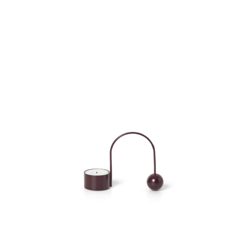 Tealight Holder - Balance - Dark Aubergine