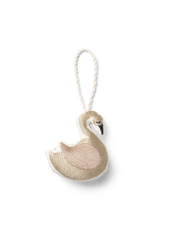 Embroidered Ornament - Swan - Copenhagen