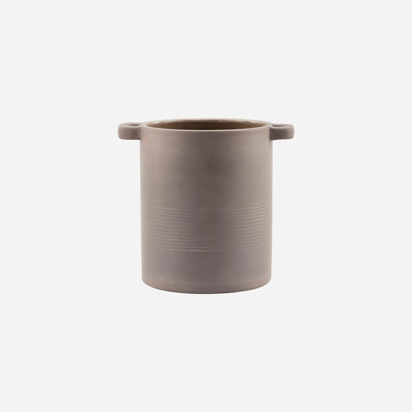 Utensil Holder - Porcelain - Grey/Brown