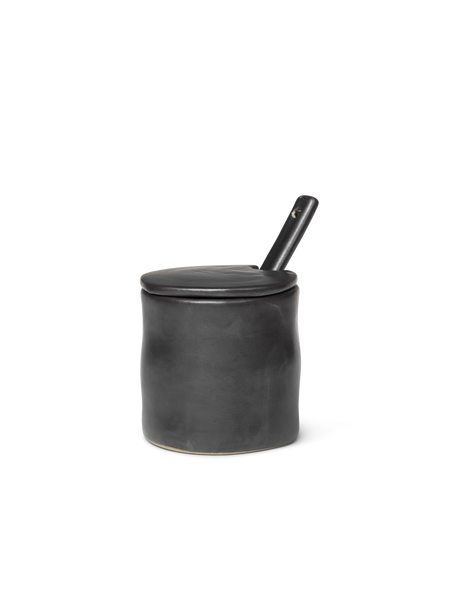 Flow Jar W/Spoon - Black