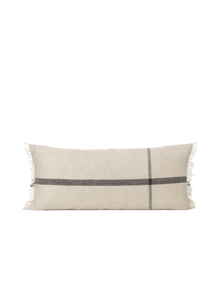 Cushion - Cotton/Linen - Camel/Black