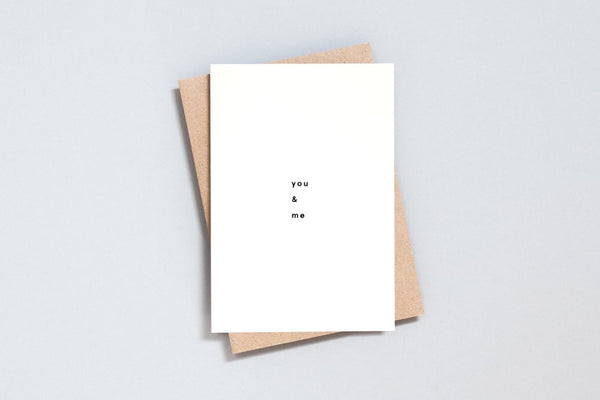 Greetings Card - You & Me