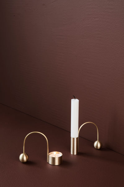 Tealight Holder - Balance - Brass
