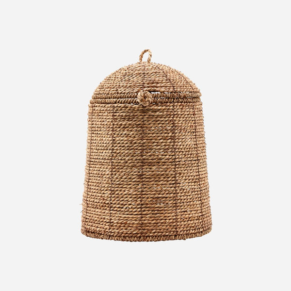 Basket With Lid - Rama - Braided - Natural