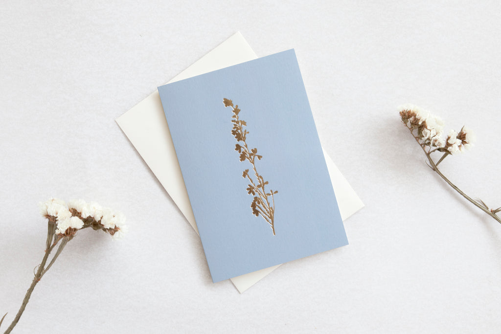 Greetings Card - Heather Print