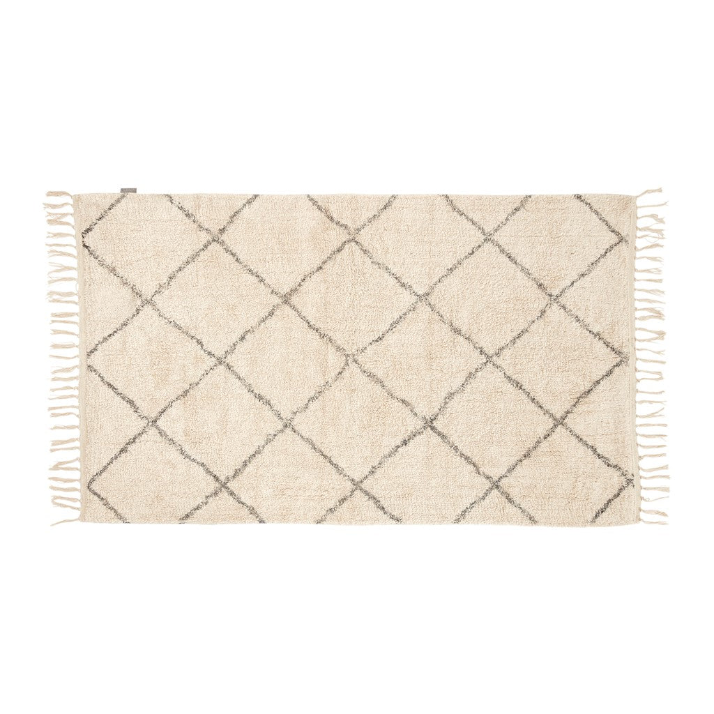 Rug - Cotton - White & Grey