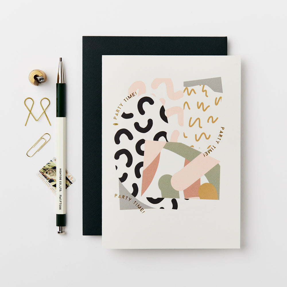 Greeting Card - Collage - Party Time