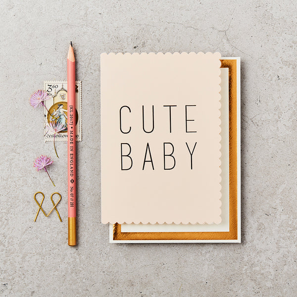 Greeting Card - Cute Baby - Pink
