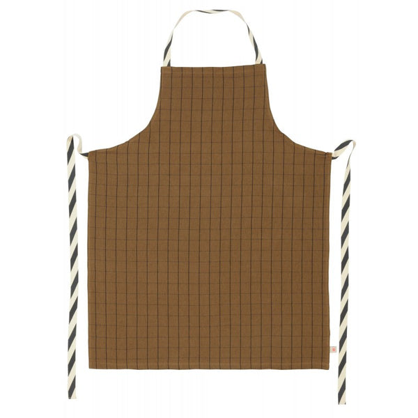 Apron - Checkered - Tobacco