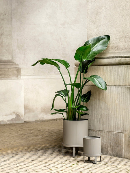 Plant Pot - Steel - Warm Grey