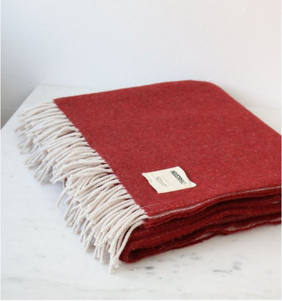 Irish Lambswool Blanket - Bokhara Reversible
