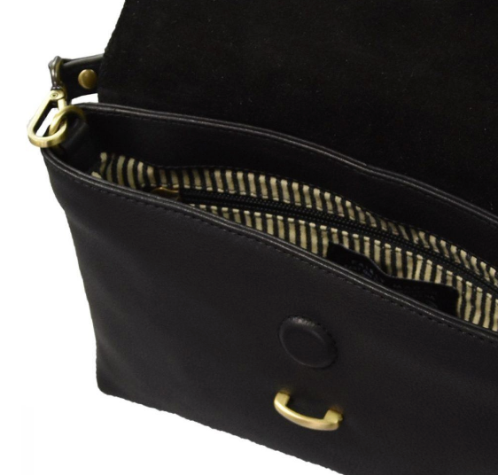 Bag - Ella - Midi - Eco Soft Grain Leather - Black