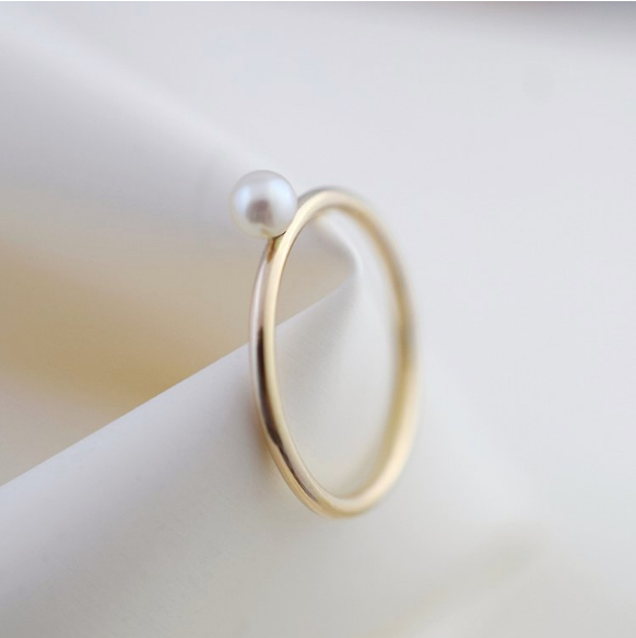 Ring - Ama - Pearl - 9 Carat Gold
