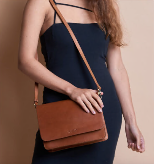 Bag - Audrey - Eco Leather - Cognac