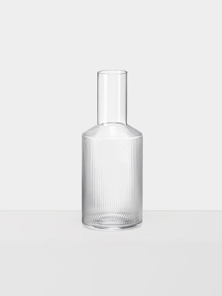 Carafe - Ripple - Mouth Blown - Clear